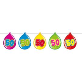 50 Jaar Birthday Ballonnen Slinger - 10 meter