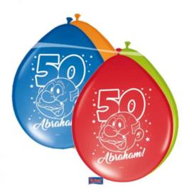 Latex Ballonnen Abraham Rainbow 8 Stuks