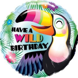 Folieballon Have a Wild Birthday Tucan - 45 cm