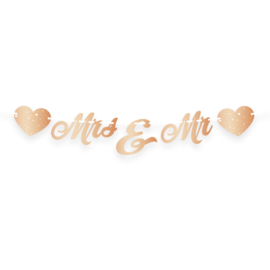 Bruiloft Rosé Goud Letterslinger Just Married