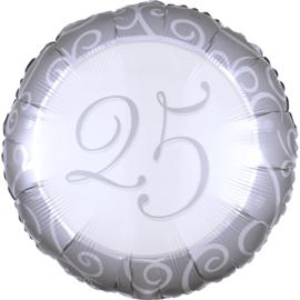 Folieballon 25 Jaar Getrouwd - 43 cm