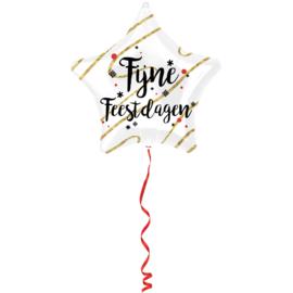 Folieballon 'Fijne Feestdagen!' - 48 cm