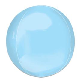 Folieballon Orbz pastelblauw - 40 cm