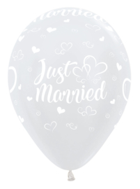 Ballon Just Married Wit Metallic (1st)