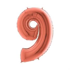 Cijfer 9 Rosé goud 100 cm