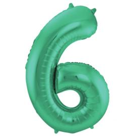 Cijfer 6 Mat Groen - 86 cm