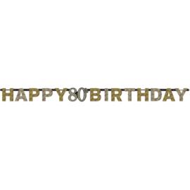 Glitterfeest 80 Jaar Letter Banner