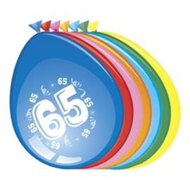 Ballonnen 65 jaar (Ø30cm, 8st)