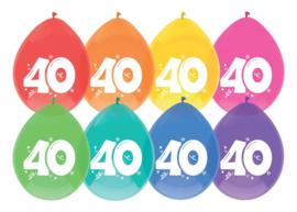 """Ballonnen """"40"""" 8 st. 30 cm"""