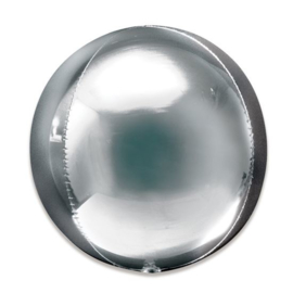 Folieballon Orbz zilver - 40 cm