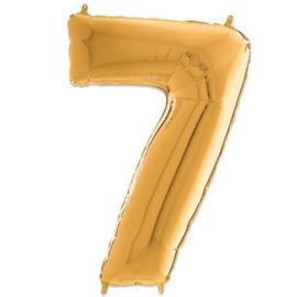 Cijfer 7 Goud - 66 cm