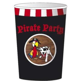 kartonnen bekers Pirate Party 25 cl 8 stuks
