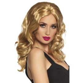 Pruik Celebrity blond lang haar