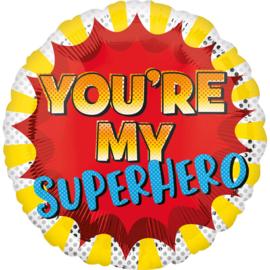 Folieballon You're My Superhero - 45 cm