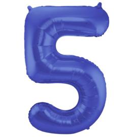 Cijfer 5 Blauw Mat 86 cm