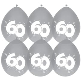 Ballonnen 60 Diamant 6 stuks 30 cm