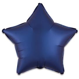 Folieballon ster satin navyblauw (43cm)