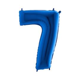 Cijfer 7 Blauw 100 cm