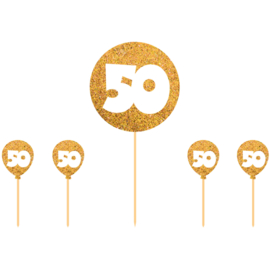 Taart Topper Goudkleurige 50 Jaar