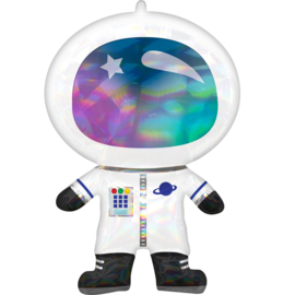 Folieballon SuperShape Holographic  Astronaut - 76 cm