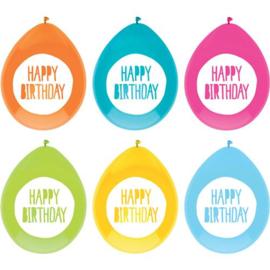 Ballonnen Festive Colors 30 cm - 6 stuks
