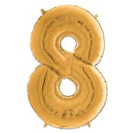 Cijfer 8 Goud - 66 cm