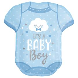 Folieballon Geboorte Baby Body it's a Boy - 60 cm
