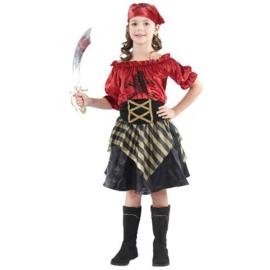 Piraat Meisje Rood
