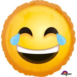 Folieballon Laughing Emoticon- 43 cm