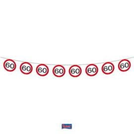 60 jaar Verkeersbord Slinger - 12 meter
