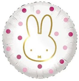 Folieballon Nijntje Pink Dots - 45 cm