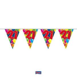 Vlaggenlijn Balloons 21 jaar
