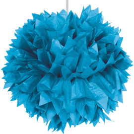 Pompom azuur blauw 30cm