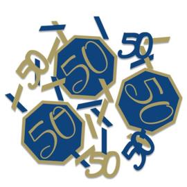 Confetti Navy & Gold '50' (14g)