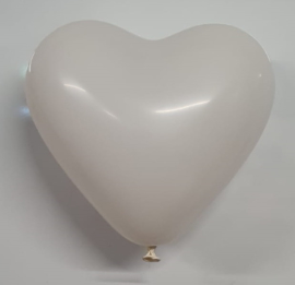 Ballonnen Hart Wit 10 stuks 25 cm
