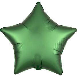 Folieballon ster satin emerald - 43 cm