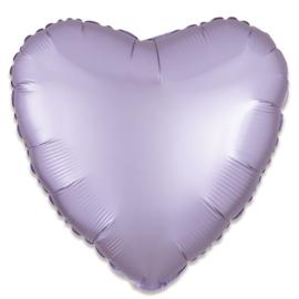 Folieballon hart satin pastellila - 43 cm