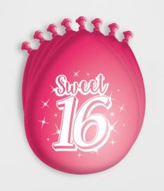 Party Ballonnen - Sweet 16 - 8 Stuks