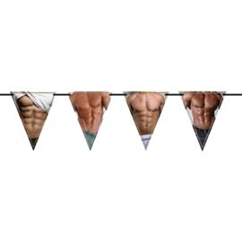 Vrijgezellenfeest Vlaggenlijn met Heren - 6 meter