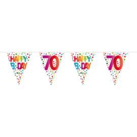 70 Jaar Happy Bday Stippen Vlaggenlijn - 10 meter