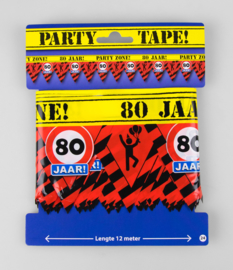 80 Jaar Afzetlint  - Party Tape 15 meter