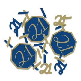 Confetti Navy & Gold '21' (14g)