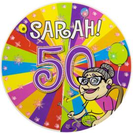 50 Jaar Sarah Led Party Button