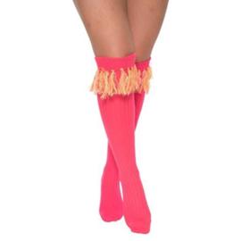 Sokken over-knee fluor pink (mt 36/41)