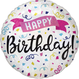 Folieballon Happy Birthday Sparkle - 45 cm