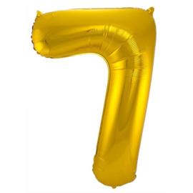Cijfer 7 Goud 86 cm