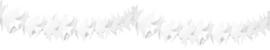 Witte slingers duifjes - 6 meter
