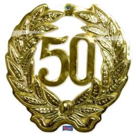 50 Jaar Deurbord goud 3D