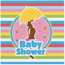 Servet Babyshower 25x25cm - 20 stuks