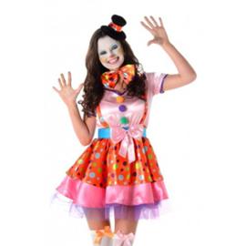 Gekke clown kostuum voor vrouwen